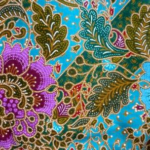 Tissu acheté en 2011 au marché de Phnom Penh, Cambodge
